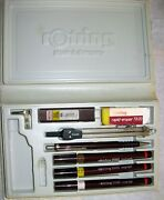 Rotring 2000 Isograph Rapidograph Set 3 -0.25 , 0.35 , 0.50 + Pensil T 0,3