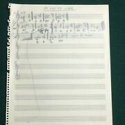 John Entwistle Handwritten Title Music And Notes To Iand039m On My Way With Coa