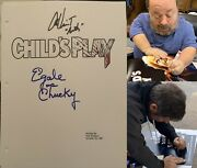 Child's Play Signed Screenplay W/ Alex Vincent And Ed Gale Chucky W/insc. Proof
