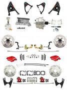 1967-69 Camaro Red Wilwood Calipers Front Rear Chrome Disc Brake Kit Control Arm