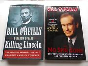 2 By Bill O'reilly No Spin Zone Signed 1st Edition + Killing Lincoln 1st Ed