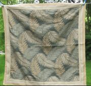 Ethan Allen Palm Fronds Leaves Tapestry Wall Hanging New With Tags Gold Square