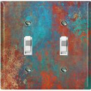 Metal Light Switch Cover Wall Plate Metal Distressed Copper Worn Patina Met013