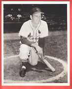 1953 Cardinals Team Issue Glossy 8 X 10 Type 1 Enos Slaughter