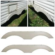 Pair Of Tandem Trailer Fender Skirt In White For Rvs Campers And Trailers