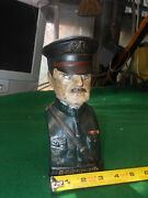 Early Bank General Pershing Hand Painted Wwi Historical Collectible Cast Iron