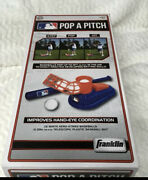 Franklin Sports Mlb Baseball Pop A Pitch - Includes 25 Inch Collapsible Plast...
