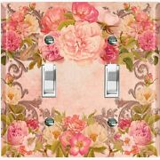 Metal Light Switch Cover Wall Plate Pretty Pink Rose Frame Red Ros024