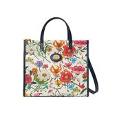 New Medium Floral Canvas Tote Bag New W/ Duster