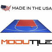 20ft X 24ft Outdoor Basketball Court Kit-lines And Edges Included Blue/red