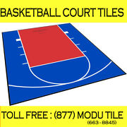 Modutile 20 Ft. X 24 Ft. Half Court Basketball Kit - Lines And Edges Included