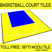 20ft X 24ft Outdoor Basketball Court Kit-lines And Edges Included Yellow/blue