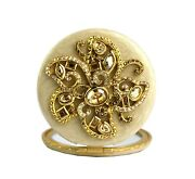Jay Strongwater Flower Jeweled Compact Double Mirror Round New Box