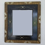 Carved Ebony And Gold Gesso Wood Rococo Double Picture Frame - Inlaid Frame