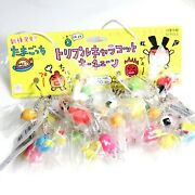 Tamagotchi Official Keychain Lot Of 12 1997 Triple Caracot Charm Key Chains