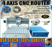 4 Axis Cnc 3040 Router Engraver Pcb Wood Engraving Mill And Drill Cutting Machine
