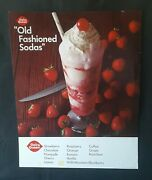 1967 Dq Dairy Queen Old Fashioned Sodas Ice Cream Litho Store Poster Sign