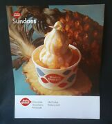 1967 Dq Dairy Queen Pineapple Sundaes Ice Cream Litho Store Poster Sign