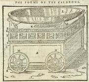 1560 Geneva Bible Leaf 1 Kg 740-836a 1st Edition The Form Of The Caldron 4