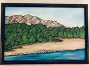 The Rio Grande And Sandia Painting By Lois Rivera Artist