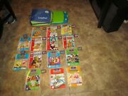 Leap Frog Lot Leap Pad Learning System Case Interactive 12 Books And Cartridges
