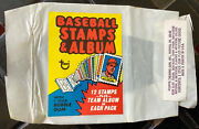 1974 Topps Baseball Stamps Album Test Wrapper - Extremely Rareandnbsp Free Shipping