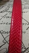 Vtg Womans Snakeskin Belt Sz M Red Leather Shop 90and039s Gaudy Belt Buckle Reptile