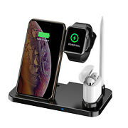 4 In 1 Wireless Charger Dock Stand Cable For Airpods New Earpods Watch Iphone