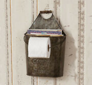 Country Living - Farmhouse Toilet Paper Holder And Magazine Holder