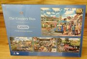 Gibsons The Country Bus By Trevor Mitchell 4x 500 Piece Jigsaw Puzzles New