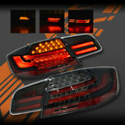Black M3 Lci Style 3d Stripe Bar Led Tail Lights For Bmw 3-series E92 Coupe And M3
