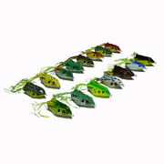 Topwater Rubber Frog Fishing Lures Soft Bait Hooks 6cm/2.3and039and039 With Retail Box