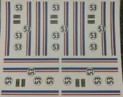 Herbie Clear Water Slide Decals 164 Scale Hot Wheels /matchbox Made In Usa