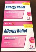 Pure-aid Medicine Allergy Relief 12 Tablets/pack 2-pack Pharmacy Cheap