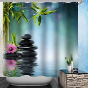 Shower Curtain Waterproof And 12 Rings Bath Decor Fast Shipping