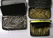 3 Nice New Old Stock Sealed Gramophone Phonograph Needle Tins With Steel Needles