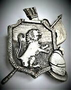 Remarkable Old Car Shield Probably French Brand Of The 10s. Badge. Hood Ornament