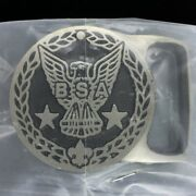 New Max Silber Boy Scouts Bsa Eagle Scout Award Silver Nos Vintage Belt Buckle