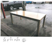 Usm Haller Light Brown Wood Tone Table 35x71x29 Excellent Condition