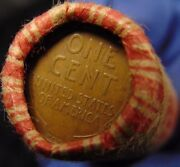 Sealed Bank Wheat Penny Roll Capped With 1909 Vdb Wheat Cent Z2