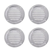 4x Round Louvered Vent Boat Yacht Air Vents Caravan Air Ventilation Cover