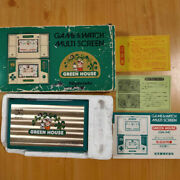 Green House Nintendo Gameandwatch With Box