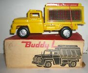 Vintage 1962 Coca-cola Buddy L Delivery Truck W/box And 8 Green/red Cases