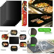 Bbq Grill Mat Set Of 6 Non-stick, Heavy Duty, Reusable, And Easy To Clean
