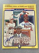 Bob Gibson Signed 1981 Baseball Hof Induction Yearbook Johnny Mize Autograph Jsa