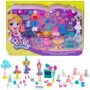Polly Pocket Birthday Party Pack - Over 30 Birthday-themed Fashions And Acc.