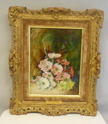 Signed Vincent Clare Oil On Canvas Floral Still Life Painting Framed Free Ship