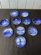 Bing And Grondahl Christmas In America Plate 10 Pieces 1989-1996 And 1986 And 87