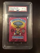 1985 Garbage Pail Kids 1st Series 1 Wax Pack Psa 8 Os1 Rare Canada Collants Nice