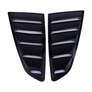 2x Quarter Side Window Louvers Scoop Cover Vent Fit For 2015-18 Ford Mustang Bu